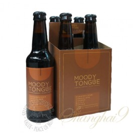 4 bottles of Moody Tongue Caramelized Chocolate Churro Baltic Porter