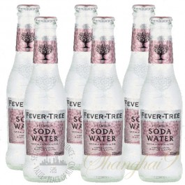 6 bottles of Fever Tree Soda Water
