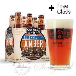 6 Bottles of Karl Strauss Columbia Street Amber + FREE Glass