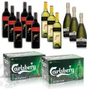 Beer & Wine Party Bundle (Carlsberg, Yellow Tail)