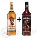 摩根船长朗姆酒(金和黑各一瓶)