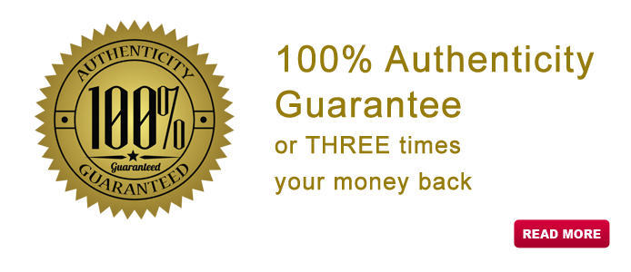 100% Authenticity Guarantee or THREE times your money back