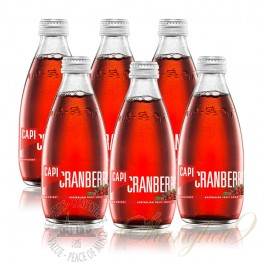 6 bottles of CAPI Cranberry Australian Fruit Soda