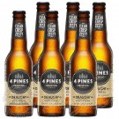6 bottles of 4 Pines Draught Kolsch Style Ale